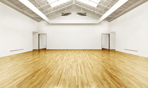 Commercial wooden floor cleaning service