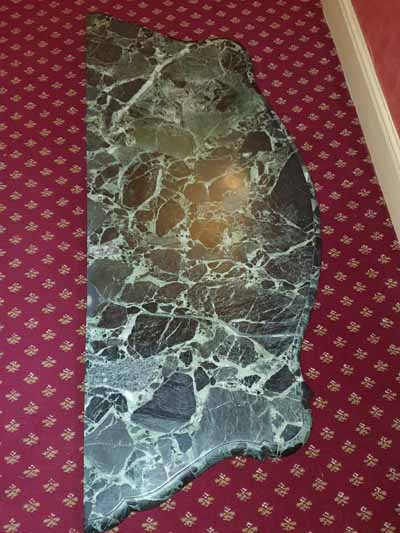 Antique marble table restored for North Mymms Park, Hertfordshire