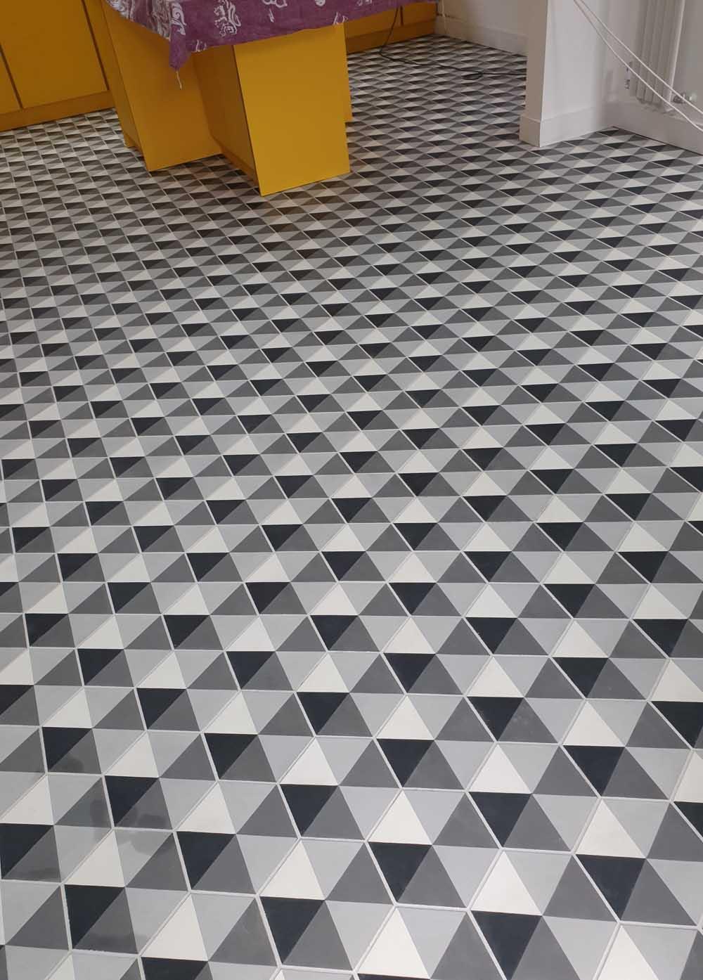 Encaustic tiled floor cleaning in Stanstead Essex