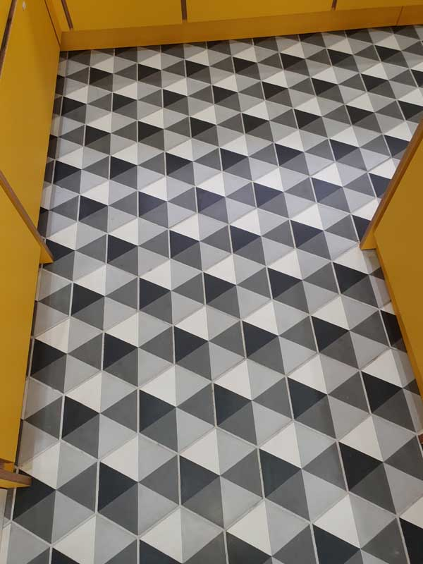 Tiled Floor Cleaning - After