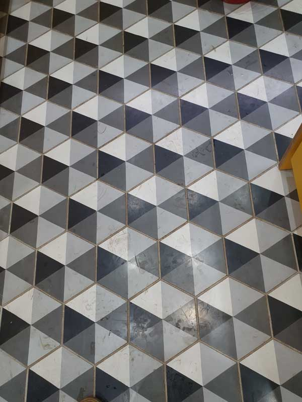 Tiled Floor Cleaning - Before