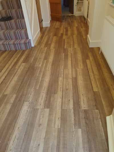 Cleaning a Karndean floor in Furneux Pelham