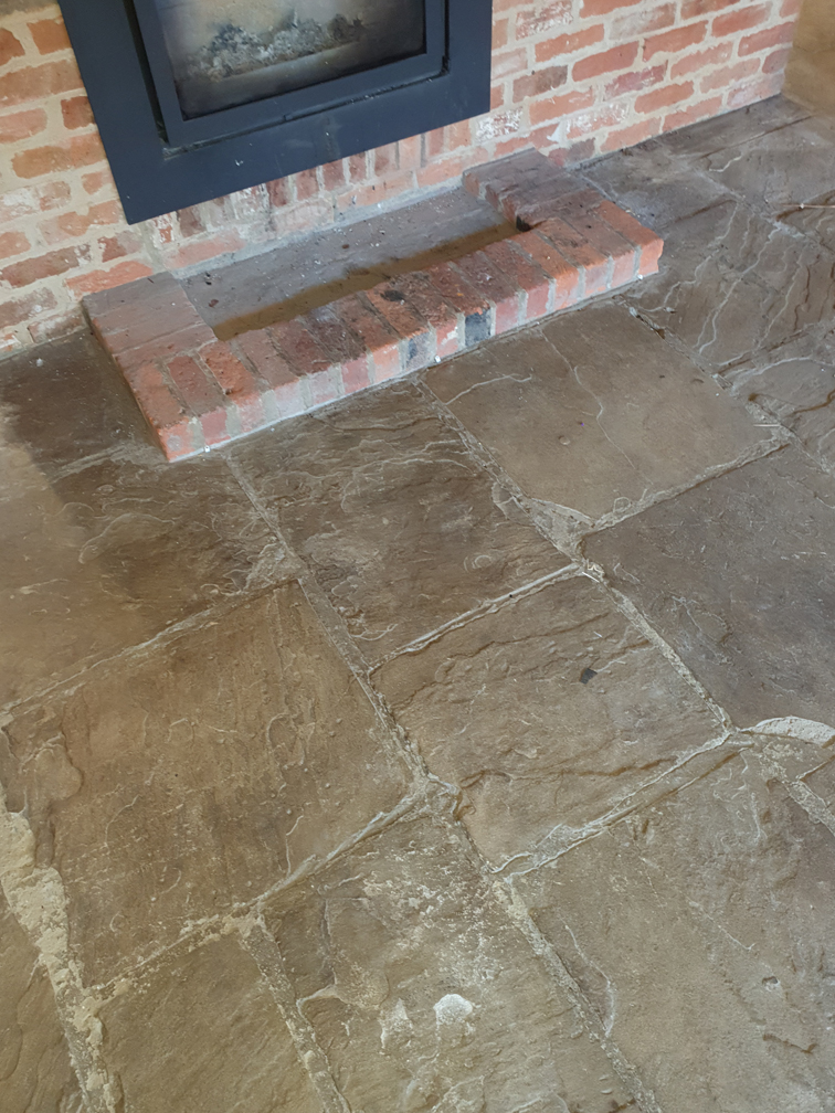Flagstone floor cleaning Essex after