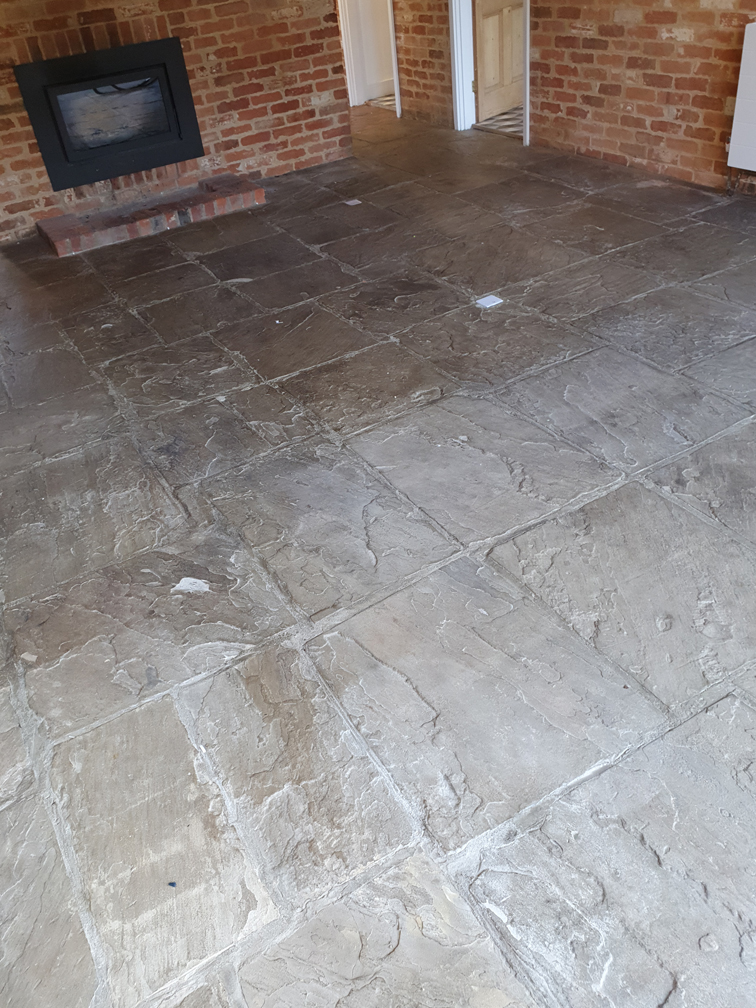 Flagstone floor cleaning Essex before