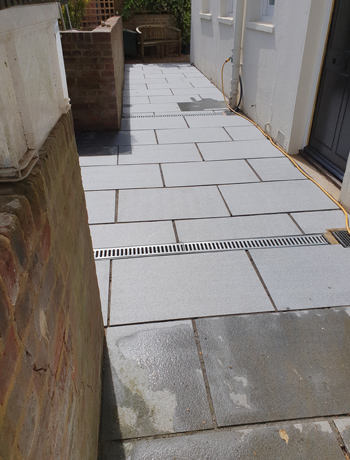 Patio stone floor cleaning in Shenley