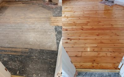 Hertfordshire wooden pine floor sanded to perfection