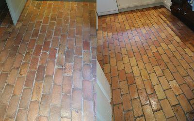 Brick floor: stone floor cleaning in Great Hormead