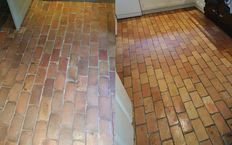 Brick floor- stone floor cleaning Great Hormead